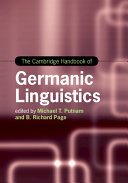 The Cambridge Handbook of Germanic Linguistics