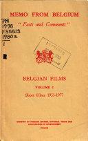Belgian Films  Short films  1955 1977 Book