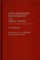 Afro American Demography And Urban Issues