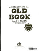 Huxford S Old Book Value Guide