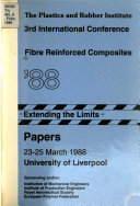 3rd International Conference Fibre Reinforced Composites 88 Book PDF