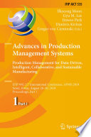 Advances in Production Management Systems. Production Management for Data-Driven, Intelligent, Collaborative, and Sustainable Manufacturing