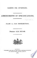 Patents for Inventions  Abridgments of Specifications Book