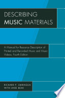 Describing Music Materials