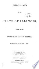 Private Laws Of The State Of Illinois Passed By The General Assembly