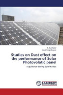 Studies on Dust Effect on the Performance of Solar Photovolatic Panel