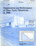 Organization And Performance Of Ohio Farm Operations In 1986