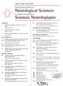 Journal Canadien Des Sciences Neurologiques