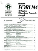 National Forum of Applied Educational Research Journal Book