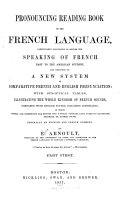 Pronouncing Reading Book of the French Language