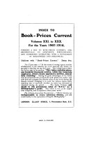 Book prices Current