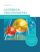 Algebra and Trigonometry for College Students