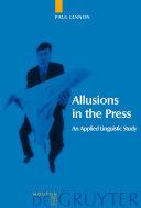 Allusions in the Press [Pdf/ePub] eBook