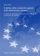 Il diritto delle società di capitali nella dimensione europea