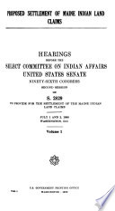 Hearings  Reports and Prints of the Senate Select Committee on Indian Affairs