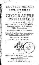 Nouvele Metode Pour Aprendre la Geographie Universele Tome Quatrieme