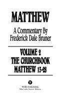 Matthew A Commentary The Churchbook Matthew 13 28