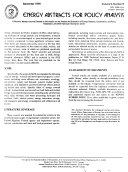 Energy Abstracts for Policy Analysis