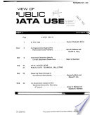 Review of Public Data Use
