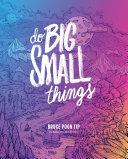Pdf Do Big Small Things