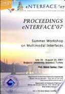 Proceedings Enterface 2007 Book PDF