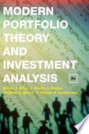 Modern Portfolio Theory and Investment Analysis Book