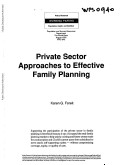 Private Sector Approaches to Effective Family Planning Pdf/ePub eBook
