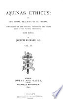 Aquinas Ethicus Book