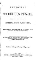 The Book of 500 Curious Puzzles