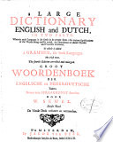 A Large Dictionary English and Dutch