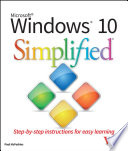 """Windows 10 Simplified"" by Paul McFedries"