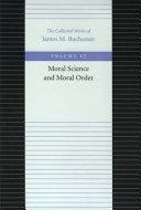 Moral Science And Moral Order