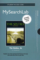 Mysearchlab with Pearson Etext    Standalone Access Card    For the Sixties