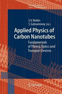 Applied Physics of Carbon Nanotubes Book