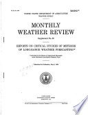 Reports on Critical Studies of Methods of Long range Weather Forecasting Conducted by the Bureau of Agricultural Economics Under Bankhead Jones Special Research Fund