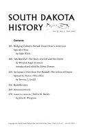 South Dakota History