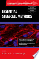 Essential Stem Cell Methods Book