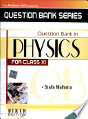 Question Bank In Physics For Class Xi