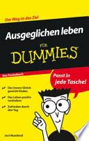 Ausgeglichen leben für Dummies Das Pocketbuch