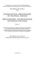 Bibliographie Internationale de Science Politique