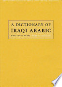 A Dictionary of Iraqi Arabic Book PDF