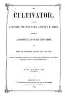 The Cultivator Vol  VI Third Series 1858