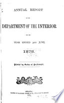 Annual Report Of The Department Of The Interior For The Fiscal Year