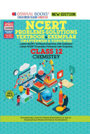 Oswaal NCERT Problems   Solutions  Textbook   Exemplar  Class 12 Chemistry Book  For 2021 Exam