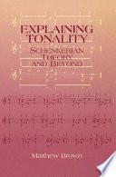 Explaining Tonality Book PDF