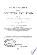 On the relation between diabetes and food  and its application to the treatment of the disease