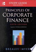 Study Guide for Use with Principles of Corporate Finance