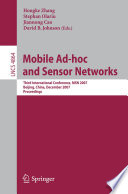 Mobile Ad hoc and Sensor Networks Book