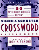 Simon and Schuster Crossword Puzzle Book ebook