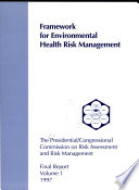Framework for environmental health risk management Book